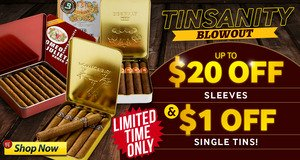 Up To $20.00 Off Sleeves & $1.00 Off Single Tins For A Limited Time Only!