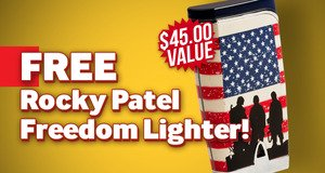Free Rocky Patel Lighter