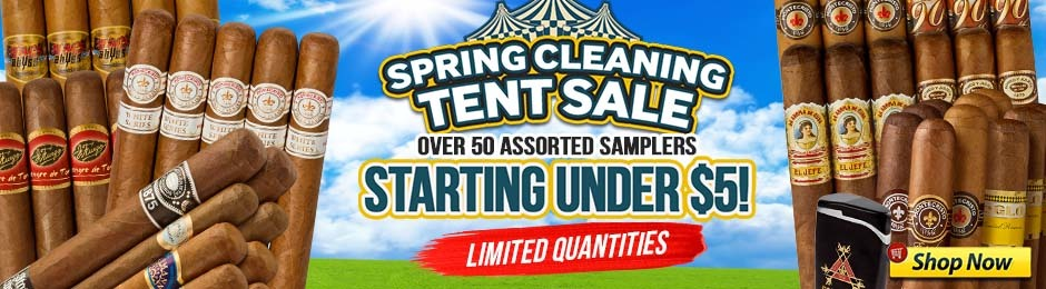 Spring Cleaning Tent Sale With Samplers Starting Under $5!