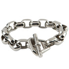 Room 101 Jewelry Stainless Octa Link Large 9.5 In. Bracelet