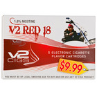 V2 Electonic Cigarettes Red Cartridge 18mg