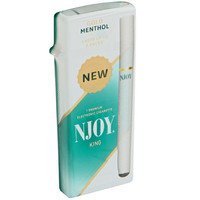 NJOY Disposable Single Smokes Menthol Gold 3.0% Nicotine
