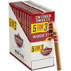 Swisher   5 for 3 Cigarillos Wood Tip