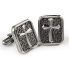 Room 101 Jewelry Stainless Cross Cufflinks