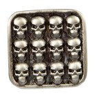 Room 101 Jewelry Stainless Mini Skull Cufflinks