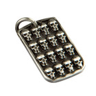 Room 101 Jewelry Stainless Multi Skull Dogtag