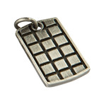 Room 101 Jewelry Stainless Raised Checker Dogtag