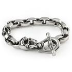 Room 101 Jewelry Stainless Eddie Link w/ Skull 8.5 In. Bracelet