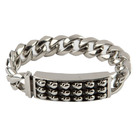 Room 101 Jewelry Stainless Skull 8.5 In. Bracelet