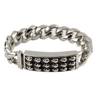 Room 101 Jewelry Stainless Skull 8.5 In. Bracelet