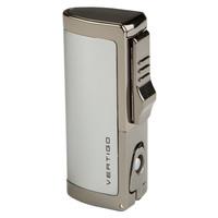 Vertigo Cigar Lighters Chrome Inferno Triple Flame w/ Punch
