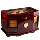 Prestige Cigar Humidors Chancellor Beveled Glass Mahogany 300 Cigar