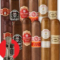 Cigar Samplers June 12 Cigars & Triple Torch Lighter