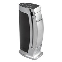 Colibri Cigar Lighters Enterprise Table Lighter Black & Chrome