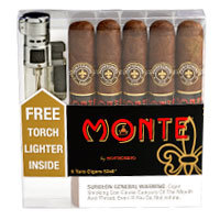 Cigar Samplers Monte By Montecristo Toro & Lighter Combo