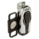 Colibri Cigar Lighters Boss Polished Chrome Triple Jet Lighter