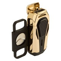Colibri Cigar Lighters Boss Polished Gold Triple Jet Lighter