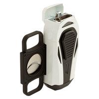 Colibri Cigar Lighters Boss White and Black Triple Jet Lighter
