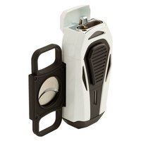 Colibri Cigar Lighters Boss White and Black Triple Jet Lighter