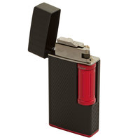 Colibri Cigar Lighters Julius Classic Black and Red Flint Lighter