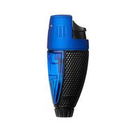 Colibri Cigar Lighters Talon Single Jet Black and Blue