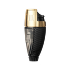 Colibri Cigar Lighters Black and Gold Talon Single Jet Lighter