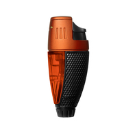 Colibri Cigar Lighters Black and Orange Talon Single Jet Lighter