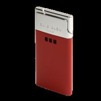Elie Bleu Cigar Lighters Delgado Jet Flame Red Lacquer