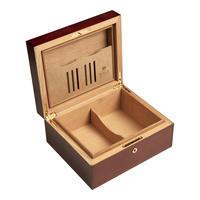 Cigar Humidors Mahogany Matte Small