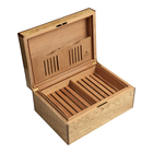 Cigar Humidors Olive Ash Burl Large