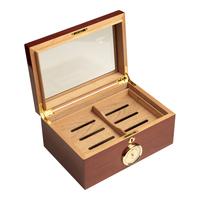 Cigar Humidors Mahogany Large Glass Top