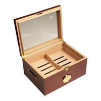 Cigar Humidors Mahogany Extra Large Glass Top