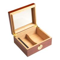 Cigar Humidors Mahogany Small Glass Top