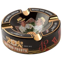 Logo Ashtray Fuente Hands of Time Black Ceramic