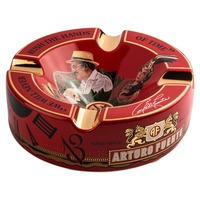 Logo Ashtray Fuente Hands of Time Red Ceramic