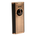 Lotus Cigar Lighters Citadel Flat Flame Copper & Black