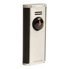Lotus Cigar Lighters Citadel Flat Flame Chrome & Black