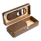 Prestige Cigar Cases Brown 3 Cigar Case w/ Cutter