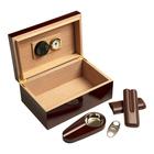 Cigar Humidors 25ct Leaf Gift Set