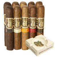 Cigar Samplers Cornelius and Anthony 10 Cigars + Ashtray Sampler
