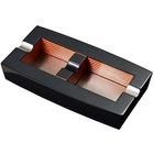Visol Ashtrays Normandy Carbon Fiber Square Wooden