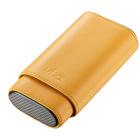 Visol Cigar Case Burgos Yellow Leather