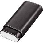 Visol Cigar Case Naturale Black Leather Crushproof