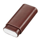 Visol Cigar Case Lone Star Brown Leather