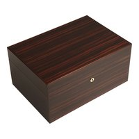 Cigar Humidors Ebony Macassar Medium