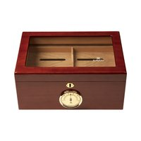 Cigar Humidors Mahogany Large Glass Top