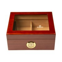 Cigar Humidors Mahogany Small Glass Top