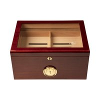 Cigar Humidors Mahogany Extra Large Glass Top