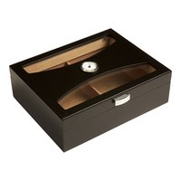 Cigar Humidors 100ct Glasstop Fontaine