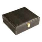 Cigar Humidors Black Cadeau Gift Set